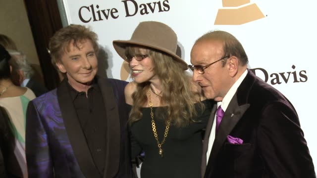 clive davis, carly simon, and barry manilow and at the 2016 pre-grammy gala and salute to industry icons honoring irving azoff at the beverly hilton... - barry manilow stock videos & royalty-free footage