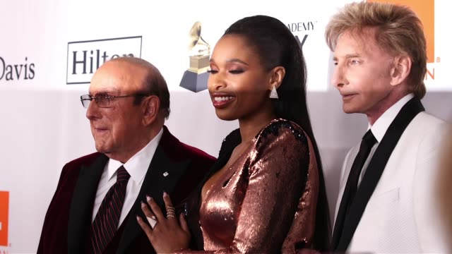 clive davis jennifer hudson and barry manilow at clive davis pregrammy gala at sheraton times square on january 27 2018 in new york city - jennifer hudson stock videos & royalty-free footage