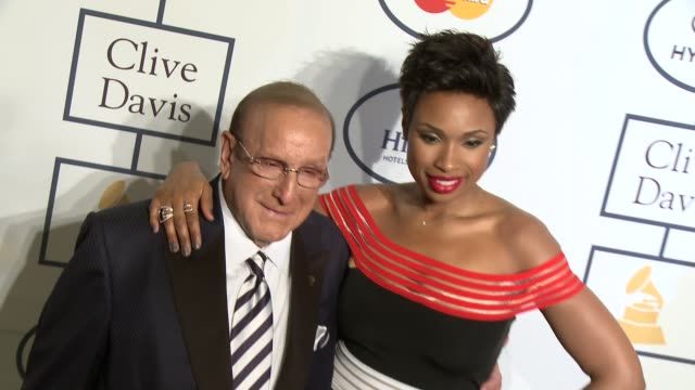 clive davis, jennifer hudson at 2014 grammy salute to industry icons honoring lucian grainge in los angeles, ca 1/25/14 - clive davis stock videos & royalty-free footage