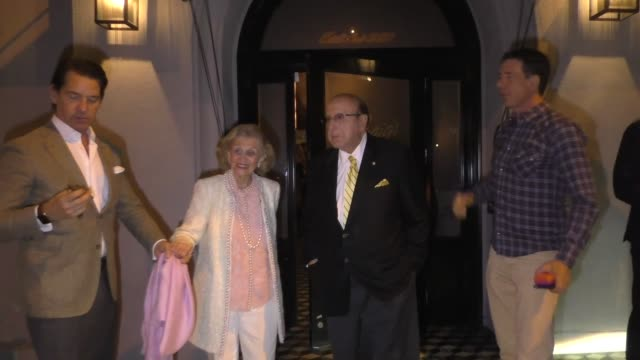 clive davis joins barbara davis for dinner at craig's in west hollywood in celebrity sightings in los angeles, - clive davis stock videos & royalty-free footage