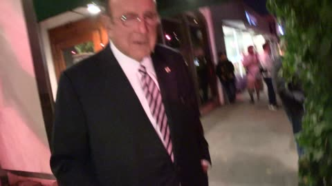 clive davis on his new project, the whitney houston live album, while departing madeo in west hollywood - celebrity sightings in los angeles on may... - whitney houston stock-videos und b-roll-filmmaterial