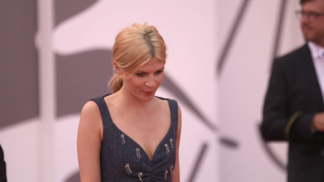 Clémence Poésy at First Man Red Carpet Arrivals Opening Ceremony And Lifetime Achievement Award To Vanessa Redgrave 75th Venice Film Festival on...