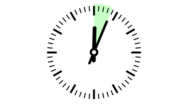 Clock 15 minutes timelapse smooth