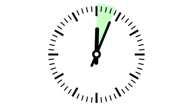 vidéos et rushes de horloge 15 minutes timelapse doux - grande aiguille
