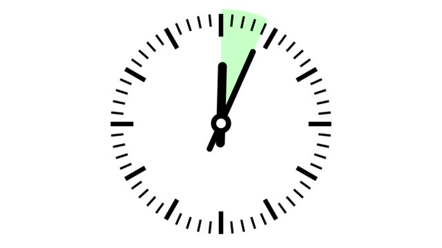 Clock 15 minutes timelapse