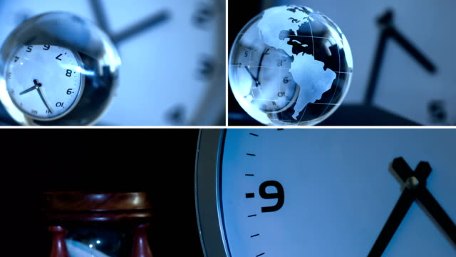 clock collage - negative emotion stock videos and b-roll footage