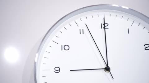 clock face at 09.00 - clock face stock videos & royalty-free footage