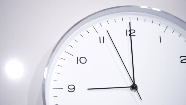 clock face at 09.00 - clock stock videos & royalty-free footage