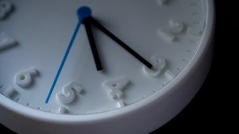 slo mo clock face at 4am or 4pm - minute hand stock videos & royalty-free footage