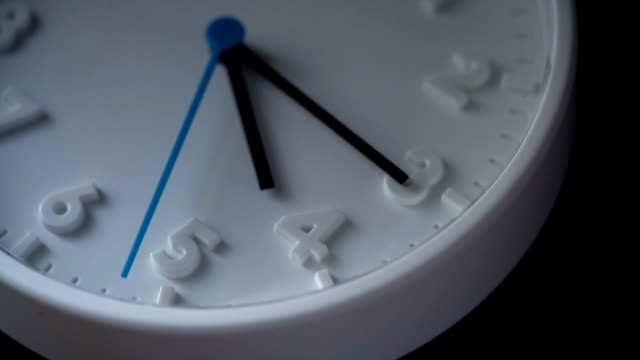 slo mo clock face at 4am or 4pm - number 3 stock videos & royalty-free footage