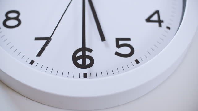clock face close-up - number 6 stock videos & royalty-free footage