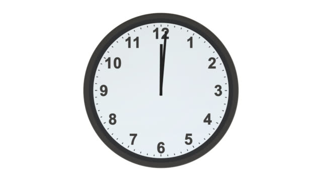 Clock face with hands moving from 9 to 5