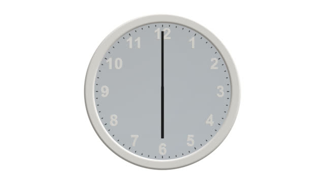 clock face with hands moving through 24 hours backwards - clock hand stock videos and b-roll footage