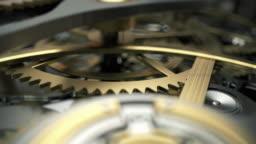 clock gears closeup