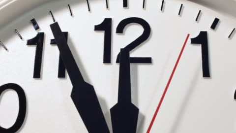 clock hands moving to 12 o'clock and then reversing. - reversing stock videos & royalty-free footage
