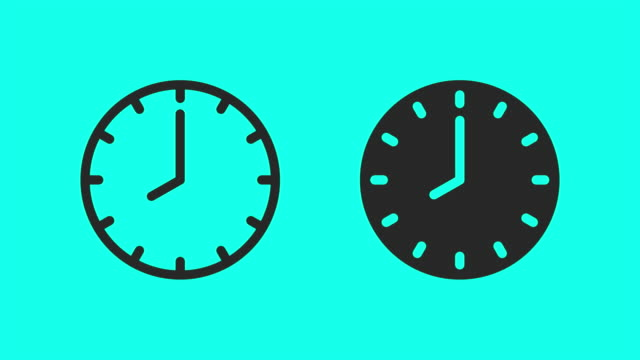 clock icons - vector animate - clock stock videos & royalty-free footage