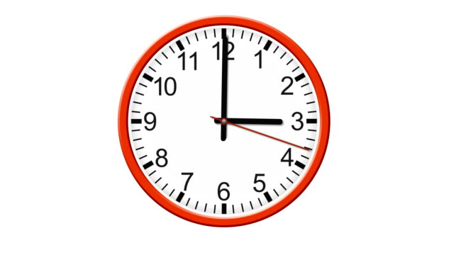 HD clock isolated on white background