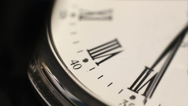 clock mark the hours. time passes inexorably - changing clock stock videos and b-roll footage