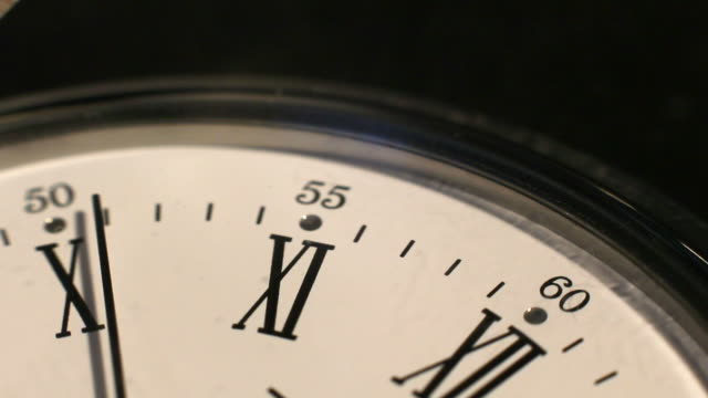 clock mark the hours. time passes inexorably - roman numeral stock videos & royalty-free footage