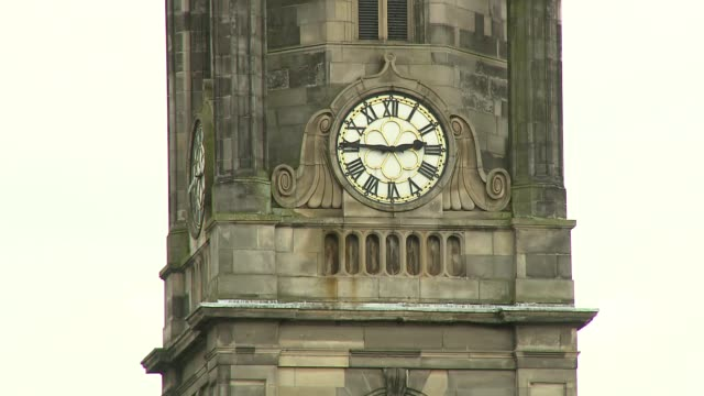 clock on tower - brick stock videos & royalty-free footage