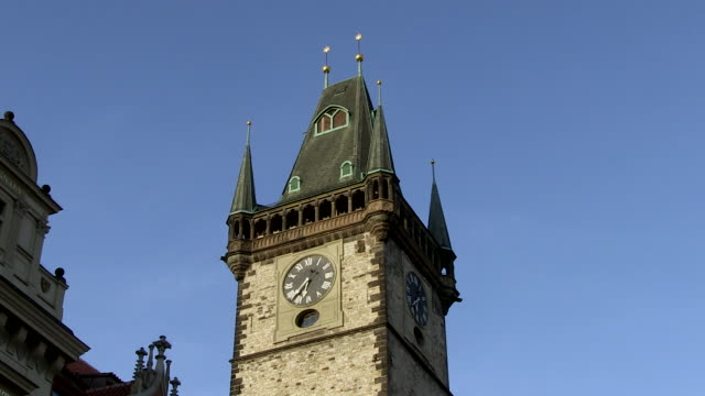 MS Clock on tyn church / Prague, Hlavni mesto Praha, Czech Republic