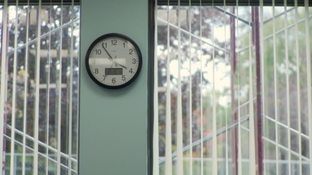 MS Clock on wall, Cazenovia, New York, USA