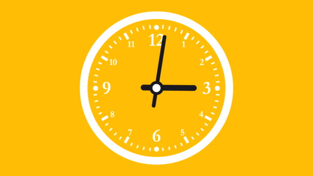 clock or timer time lapse illustrative cinemagraph - orange colour stock videos & royalty-free footage