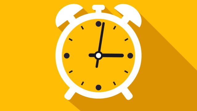 clock or timer time lapse illustrative cinemagraph - giallo video stock e b–roll