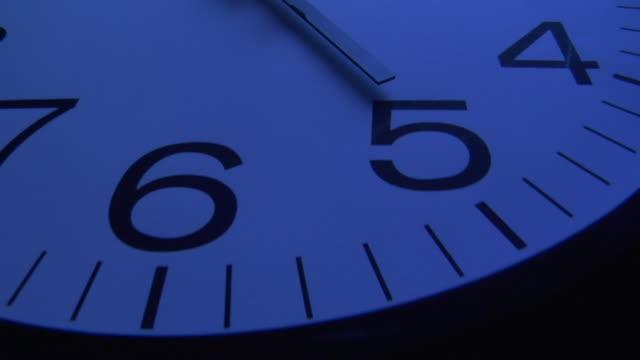ecu, tu, clock showing five o'clock - midnight stock videos & royalty-free footage