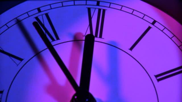 clock speeds toward midnight - midnight stock videos and b-roll footage