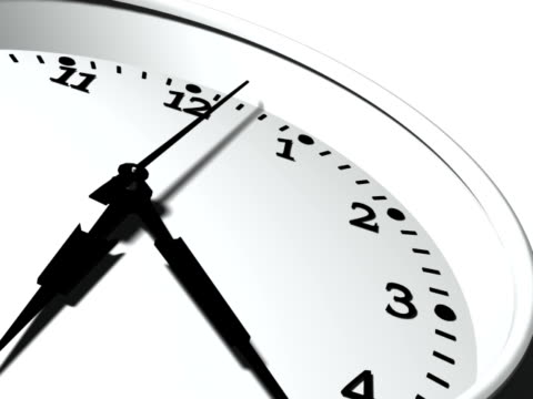 3D Clock Ticking Fast