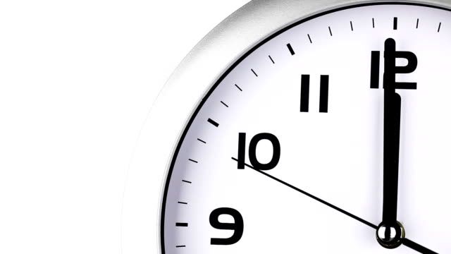 stockvideo's en b-roll-footage met clock ticking to twelve o'clock last 15 seconds - 10 seconds or greater