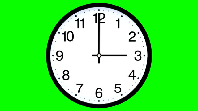 clock time lapse - green screen (loopable) - green background stock videos & royalty-free footage