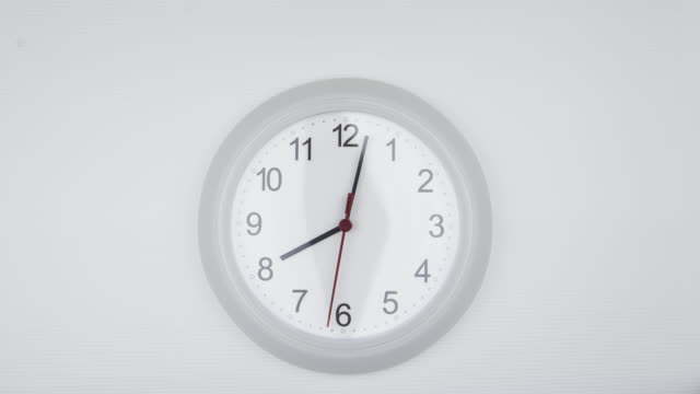 clock time lapse in the evening eight o'clock - clock stock videos & royalty-free footage