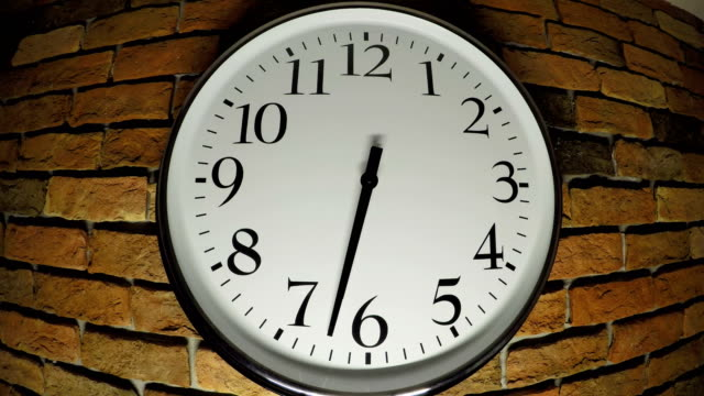 clock time lapse - brick wall stock videos & royalty-free footage
