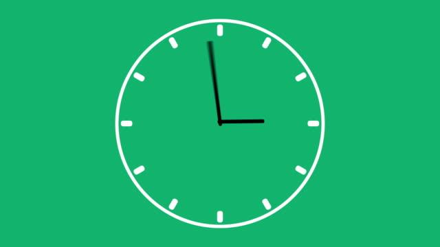 clock time lapse - orologio video stock e b–roll