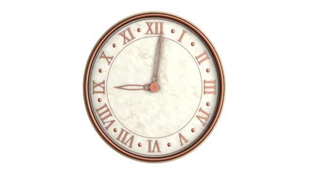 単発のルミナンス マットと時計の時間の経過
