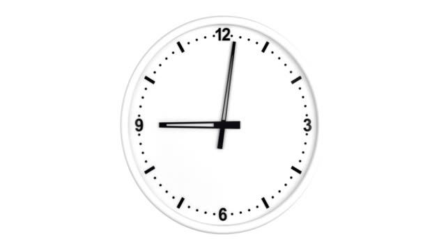 clock time lapse with luma matte loopable - clock face stock videos & royalty-free footage