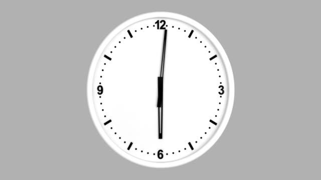 vidéos et rushes de laps de temps d'horloge avec luma matte - horloge