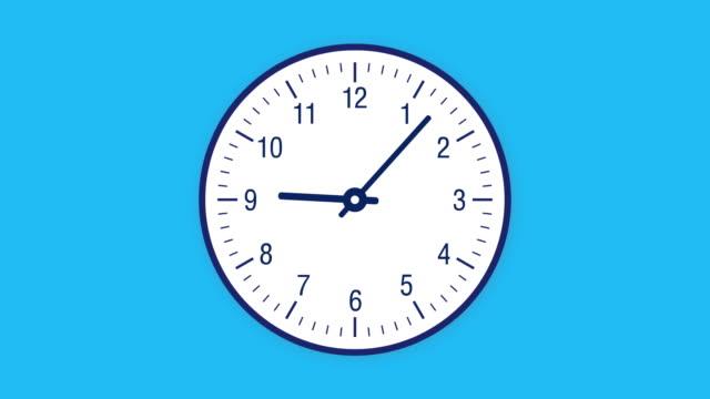 stockvideo's en b-roll-footage met timelapse van de klok 12 uur in een lus - wijzer machineonderdeel