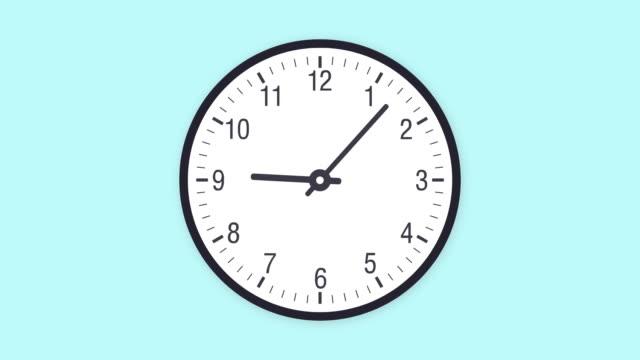 vídeos de stock e filmes b-roll de clock timelapse looping 12 hours - raso