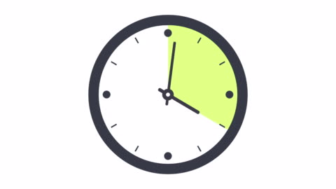 clock timelapse looping 12 hours - minute hand stock videos & royalty-free footage