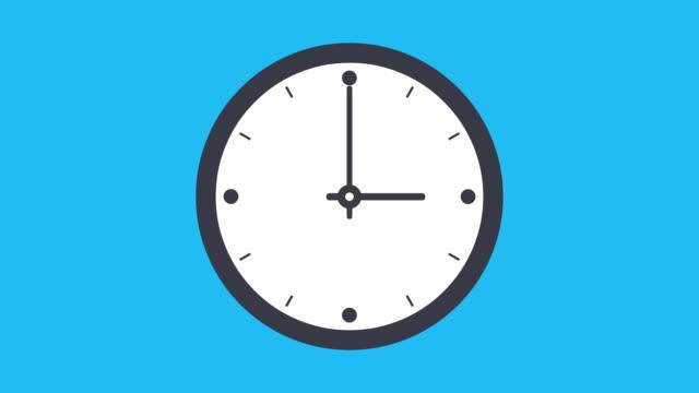 stockvideo's en b-roll-footage met timelapse van de klok 12 uur in een lus - secondewijzer