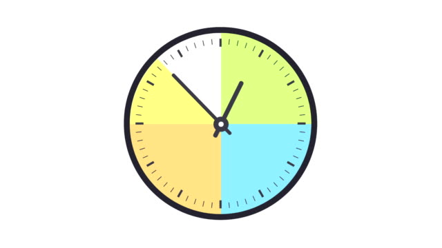 stockvideo's en b-roll-footage met timelapse van de klok één uur markeren verleden tijd in een lus - moving past