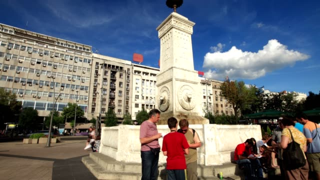 clock tower and city center - serbia stock videos & royalty-free footage