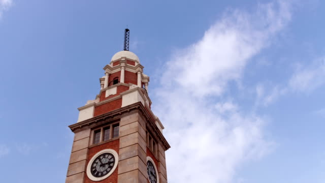 clock tower hong kong timelapse - english culture stock videos & royalty-free footage
