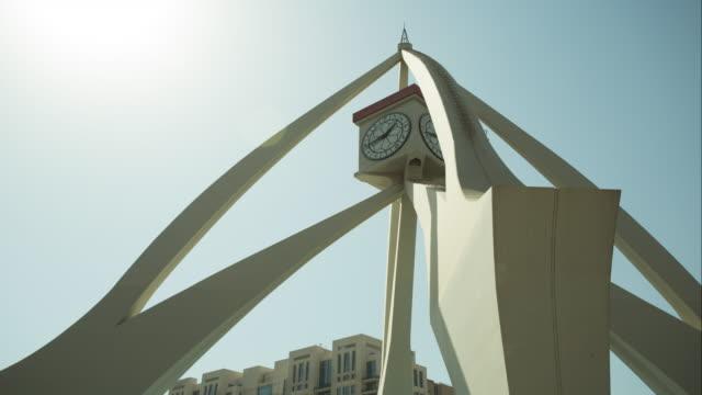 Clock tower in Dubai, contemporary.