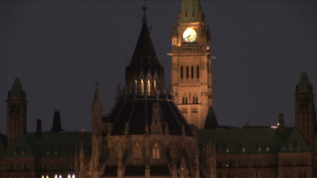 Clock tower of Parliament Hill in Ottawa Canada