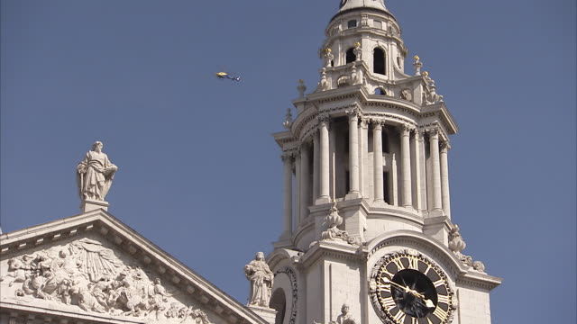 Clock tower of St. Paul's Cathedral London Available in HD.