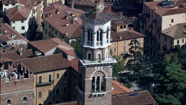 Clock Tower Piazza Delle Erbe-Luftaufnahme-Veneto, Provincia di Verona, Verona, Italien